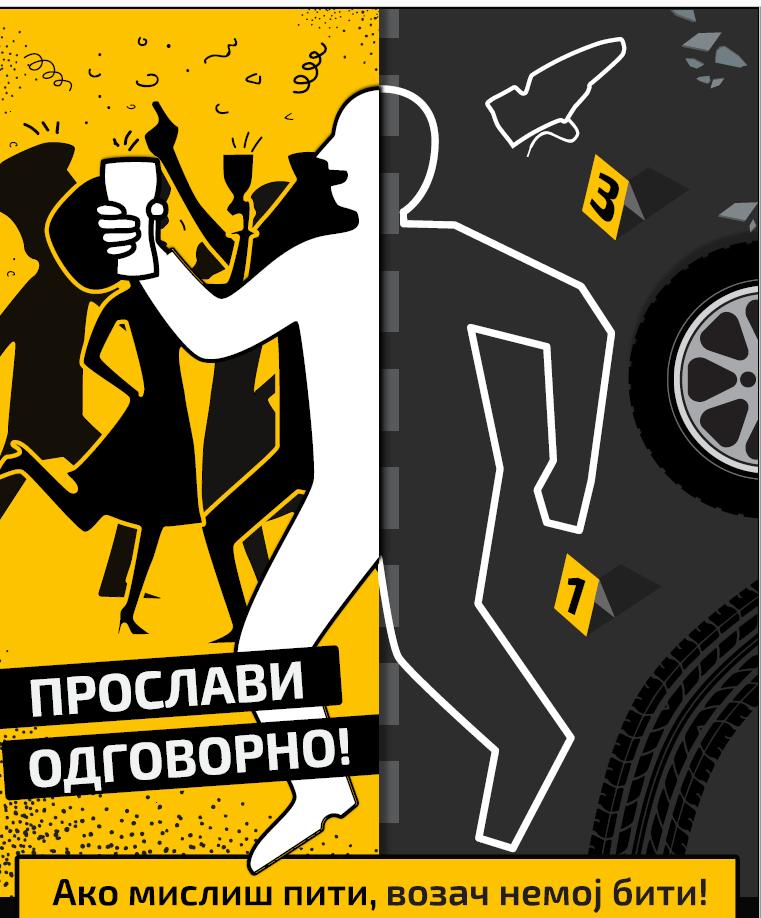 """Сутра почиње кампања  """"ПРОСЛАВИ ОДГОВОРНО"""" Ако мислиш пити, возач немој бити!"""