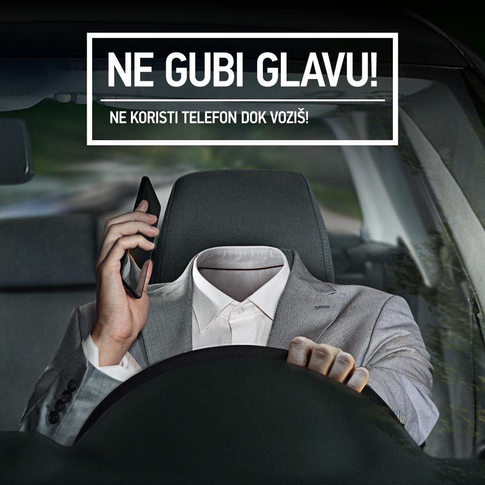 """У Републици Српској у току је превентивна кампања """"Не губи главу - Не користи телефон док возиш"""""""